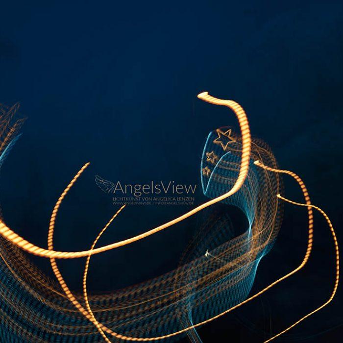 Lightpainting of Angelica Lenzen